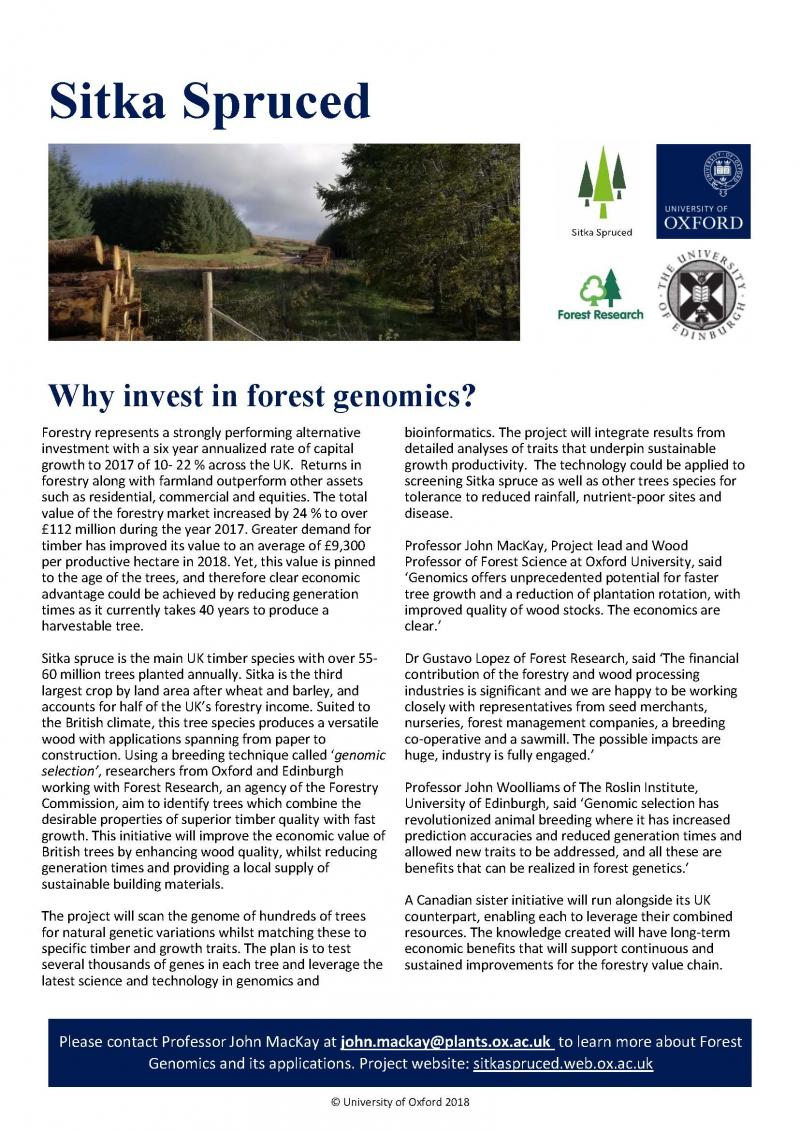 why invest in forest genomics